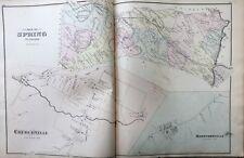 ORIGINAL 1876, A.M. DAVIS, BERKS COUNTY, PA, SPRING TWP, CHURCHVILLE, ATLAS MAP