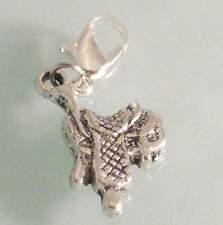 ♥ Charm Anhänger Sattel Pferdesattel Westernsattel silber für Armband ♥ AH316