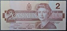 BANK OF CANADA - 1986 $2 BANK NOTE - Prefix AUK - SCARCE PREFIX - Crow & Bouey
