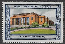 Usa Poster stamp:1939 New York World's Fair: Nyc Building -dw433/21