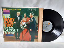 The Mary Kaye Trio LP On The Sunset Strip Warner Bros 1342 Live 1959
