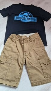 Gap Boys Cargo Shorts & Jurassic World T-Shirt Outfit - Age 10 Years