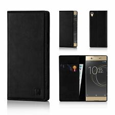 32nd Classic Series - Real Leather Book Wallet Case For Sony Xperia XA1 Ultra