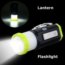 Rechargeable Hand Cranking LED Flashlight Camping Tent Light Torch Lantern