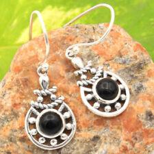 Pendientes de joyería negros naturales de ónix