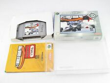 Nintendo N64 F1 grand prix boxed pal complet plus display case