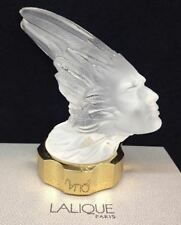 Lalique Crystal signed Car Mascot VICTORIE Paperweight Phoenix Indian Chief Head