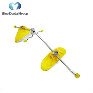 1 X Sino Dental Orthodontic Adjustable Headgear Face Mask Face Bow Yellow