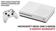 Microsoft Xbox One S 500GB Console (White) - 1 Controller - Boxed