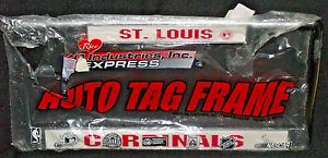 St. Louis Cardinals Metal License Plate Tag Frame NEW Ripped Bag