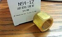 "Flare Nut, For 3/4"" O.D. TUBING, JB INDUSTRIES PART# NS4-12"