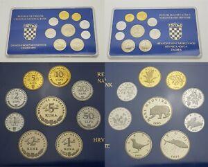XD.048} CROATIA 1995 coins proof set
