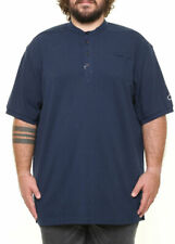 Maxfort blue crew neck t-shirt plus sizes for men. Big size. Big and tall