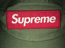 Supreme Military Camp Cap Green Olive Box Logo 10/10 Condition Made in USA