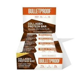 Bulletproof Chocolate Chip Cookie Dough Collagen Protein Bar (12 pack)