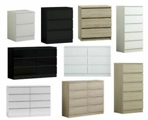 Chest of Drawers & Bedsides Modern White,Black,Grey,Oak,Sonoma - Fast Delivery