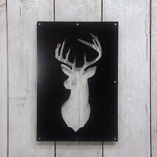 Deer head Steel Insert Window for Wood Gate, Deer Gate, Rustic Deer Decoration