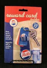 Peps-Cola Logo Reward Card Holder - Magnifier - Blue - Key Ring - Jokari
