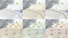 New Flannelette Flannel Sheet Set 100% Thermal Brushed Cotton With Pillow Cases