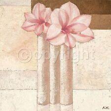 Karsten Kirchner: Amaryllis in Love Stillleben Fertig-Bild 50x50 Wandbild Deko