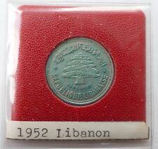 50 Piastres Libanon 1952 Silber