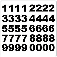 "Lot of 40 1 1/2""  Black Vinyl Mailbox, Tool Box, Locker Numbers Decal Stickers"