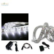 (10,7 €/ M) Set LED Strips 5x1m + Transformer Cold White 60 Smds Rooflight BAR