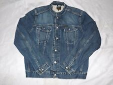 MENS PEPE JEANS DENIM JACKET-ROUND NECK WITH SILVER BUTTONS-SIZE XL-GREAT