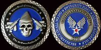 """US AIR FORCE WHEN THE REAPER COMERS SMILING 2"""" CHALLENGE COIN ORIGINAL 15"""