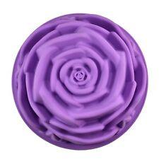 """Silicone 9"""" Rose Flower Birthday Cake Bread Tart Flan Baking Mould Tin Bakeware"""