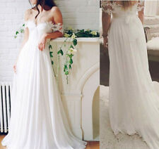 Chiffon Beach Lace Wedding Dresses Western Country Bridal Gown Vestidos de Novia