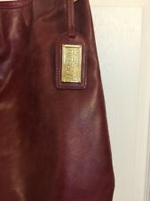 $325 BADGLEY MISCHKA BAG LARGE Red Leather Gaia Shine Slouchy Tote *PRIMO*