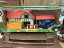NewRay NEW HOLLAND T7 270 TRACTOR WITH TRAILER BARN STABLES SET