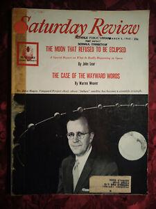 SATURDAY REVIEW March 5 1960 JOHN HAGEN WARREN WEAVER JOHN C. BENNETT