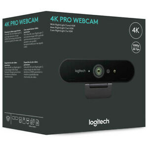 Logitech 4K Pro Webcam With RightLight3 and HDR - Black