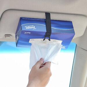 TFY Tissues Boxes Car Visor / Headrest Strap Holder For Kleenex Facial Tissues