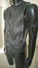 BUTTERSOFT LEATHER WAISTCOAT GOOD SIZE SMALL