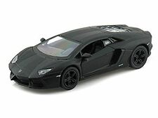 "5"" Kinsmart Lamborghini Aventador LP700-4 Diecast Model Toy Car 1:38 Matte Black"