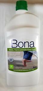 BONA Stone Tile & Laminate Floor Polish High Gloss 36 oz Shine Fills In Scratch