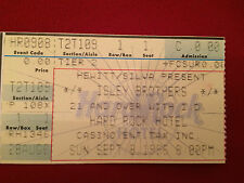 Original Isley Brothers Ticket Stub Hard Rock Hotel Sept 8, 1986 Free Shipping