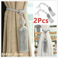 Large Crystal Tie Backs Prism Ball Home Decor Tassel Curtain Rope Pair HoldBacks
