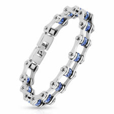 c4dacecec78e68 Blue Stainless Steel Bracelets for Men for sale | eBay