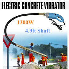 1300W Electric Concrete Vibrator Construction Tool Air Bubble Remover 1.5m Hose