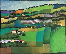 """""""Barbados Landscape"""" by Ann Dodson - 2001 - Caribbean Painting - 24 in x 20 in"""