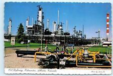 Oil Refinery Edmonton Alberta Canada Vintage 4x6 Postcard D42