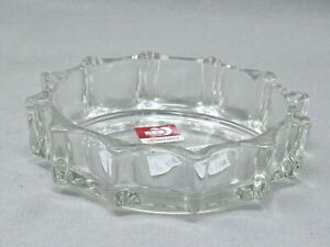 White Glass Clear Crystal Ashtray For Office / Living Room Decoration Royal Gift