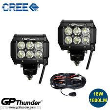 2pcs 4 inch Off Road 18W CREE LED Fog Lamp Work Light Bar SUV Jeep 4WD DRL+Relay