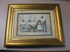 African American Ida Jackson signed FAMILY PORTRAIT GENUINE LITHOGRAPH CANVAS