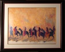 "Earl Biss ""The Dark Horses""Hand Signed Mono Print w/ Custom frame  Make an Offer"