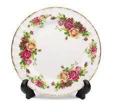 """Royalty Porcelain Set of 6 """"Vintage Floral"""" Dessert Plates, 24K Gold"""
